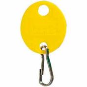 MMF-mousqueton porte-clés ovale 201800912 plaine, Pack de 20 balises, jaune