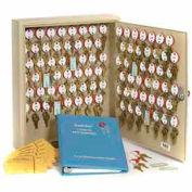 Armoire à clés à deux étiquettes pour60 clésMMF STEELMASTER® Dupli-Key#174,201806003, havane