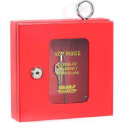 MMF STEELMASTER® Emergency Key Box 201900307 Keyed Alike Red