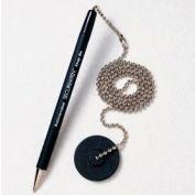Counter Pen - Secure-A-Pen, Black Ink - Pkg Qty 12