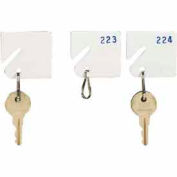 MMF Slotted Rack Key Tags with Snap-Hook 5313231AA06 - Numbered 1-20, White