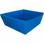 Corrugated Plastic Nestable Tray, No Handles, 13x12x4-1/2, Blue (Min. Purchase Qty 76+) - Pkg Qty 270