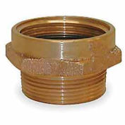 Fire Hose Female/Male Hose Nipple - 2-1/2 In. NH Female X 2 In. NPT Male - Brass
