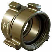 Fire Hose Double Female Swivel Adapter - 1-1/2 NH X 1-1/2 NPSH - Aluminum
