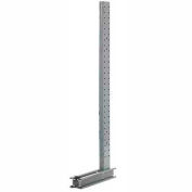 "Un équipement moderne XU1852 Cantilever Rack simple face verticale (3000-5000 Series), 52"" D x 18' H"
