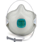 Moldex 2730N100 N100 Particulate Respirator Disposable Mask, HandyStrap & Ventex Valve, M/L, 5/Box