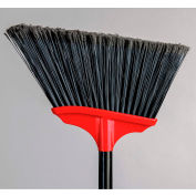 "Vortex Angle Broom w/ 48"" Metal Handle - Long Fibre - Fine Sweep"