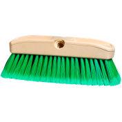 "Car/Truck Wash Brush - 10"" - Plastic - Green Flagged Fill"