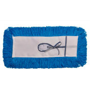 "Static-H Tie-On Dust Mop - 5"" x 18"" - Blue"