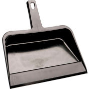 "Handheld Plastic Dustpan - 12"" Length - 13-3/4"" Width - Black"