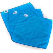 "All-Purpose Microfiber Cloth - 14"" x 14"" - Blue - Pkg Qty 12"