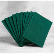 "Premium Scouring Pad - 6"" x 9"" x 0.3"" - Green - Pkg Qty 10"