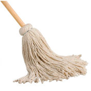 "Cotton Yacht Mop - 12 oz. - 54"" Wood Handle"