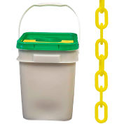 """Plastic Chain - 1-1/2"""" Links - In A Pail - Yellow - 300 Feet - Trade Size 6"""