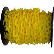 """Plastic Chain - 1-1/2"""" Links - On A Reel - Yellow - 200 Feet - Trade Size 6"""