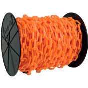 """Mr. Chain 50112 Plastic Chain - 2"""" Links - On A Reel - Safety Orange - 125 Feet - Trade Size 8"""