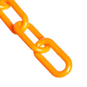 "Mr. Chain 51012-50 2"" Heavy Duty Plastic Chain, 50 Feet, Safety Orange"