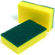Unwrapped Scrubbing Sponge Yellow/Green - 10x5