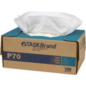 Lingettes en papier robustesTaskBrand P70, blanc –150/caisse