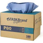 TaskBrand P80 H.D bleu papier essuie - 160/caisse