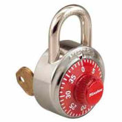 Master Lock® No. 1525LFRED General Security Combo Padlock - Key Control - LF Shackle - Red