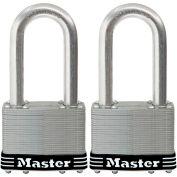 "Master Lock® No. 15SSTLJHC General Security Laminated Padlock - 2-1/2"" Shackle - Pkg Qty 2"