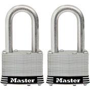 """Master Lock® General Security Laminated Padlock - No. 1SSTLFHC - 1-1/2"""" Shackle - Pkg Qty 2"""