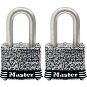 """Master Lock® General Security Laminated Padlock - No. 3SSTLDHC - 1-1/8"""" Shackle - Pkg Qty 2"""
