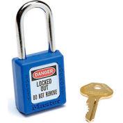 Master Lock® Safety 410 Series Thermoplastic Padlock, Blue, 410BLU