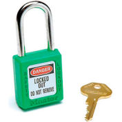 Master Lock® Safety 410 Series Zenex® Thermoplastic Padlock, Green, 410GRN