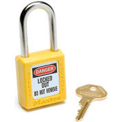 Master Lock® Safety 410 Series Zenex™ Thermoplastic Padlock, Yellow, 410YLW
