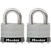 "Master Lock® General Security Laminated Padlock - No. 5SSTHC - 1"" Shackle - Pkg Qty 2"