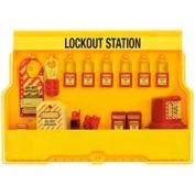Master Lock® Lockout Station, Electrical Focus, Zenex™ Thermoplastic Padlocks, S1850E410