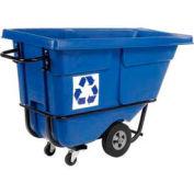 Rubbermaid® 1305-73 Standard Duty 1/2 Cu Yd Tilt Truck, We Recycle Logo