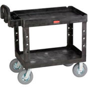 "Rubbermaid® 4520-10 Tray Shelf Plastic Service Cart, 44x25, 8"" Casters"