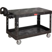 Rubbermaid® 4545-00 Flat Shelf Plastic Service & Utility Cart, 54 x 25