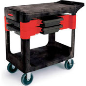 Rubbermaid® 6180-00 Black Trades Cart with Locking Cabinet
