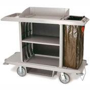 Rubbermaid® 6189-00 Classic Full Size Housekeeping Cart, Platinum