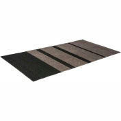 Mat Tech Glacier Entrance Wiper/Scraper Mat 3'x6' - Walnut/Black