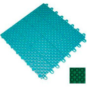 "Mateflex III Outdoor Swimming Pool Decking Tile 351312, 12""L X 12""W, Bright Green"
