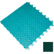 "Mateflex III Outdoor Swimming Pool Decking Tile 351318, 12""L X 12""W, Sport Green"