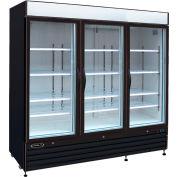 """Kool-It KGF-72 - congélateur Merchandiser, 72 pi³, portes en verre 3, Black, 79-1/2"""" H x 81"""" W"""
