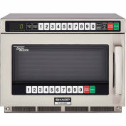 """Sharp R-CD1200M - Commercial Microwave Oven, TwinTouch, 1200W, S/S, 17-1/2""""W x 22-9/16""""H x 13-5/8""""D"""