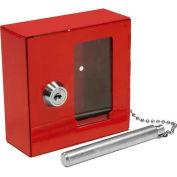 """Boîte de clés d'urgence Barska cassable avec marteau attaché B Style, 3-15/16"""" W x 1-9/16 «D x 3-15/16"""" H"""