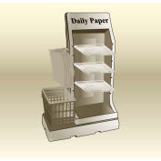 "MasonWays™ 321654 NBS Newspaper Basket Stand 32""W x 16""D x 54""H"