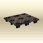 "MasonWays™ HN 48486 STF Full Size Economy Nestable Plastic Pallet 48""W x 48""D x 6""H Black"
