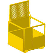M & W 4' x 4' Forklift Personnel Basket, 1000 lb. Capacity, Yellow - 20988