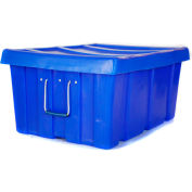 "Myton Bulk Shipping Poly Container MTL-2 With Lid 31""L x 22""W x 15""H, Orange"