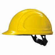 Honeywell North® Hard Hat, Front Brim, Type 1, Class E, Pinlock, Yellow