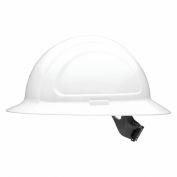 Honeywell North® Hard Hat, Full Brim, Quick-Fit Suspension, White